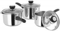Judge Vista 18/10 Stainless Steel Draining 3 Piece Saucepan Set