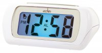 Acctim Auric Alarm Clock White 10.5cm