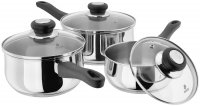 Judge Vista 18/10 Stainless Steel 3 Piece Saucepan Set - 16/18/20cm