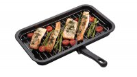 kc non-stick enameled grill pan,40cmx23cm,