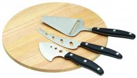 KitchenCraft 25cm Wood Cheese Board Serving Set