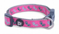 Petface Cerise/Grey Paws Collar - Various Sizes