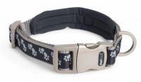Petface Signature Padded Black Paws Collar - Medium