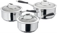 Stellar James Martin Cookware 3 Piece Saucepan Set