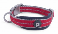Petface Signature Padded Red Collar - Medium