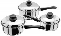 Judge Essentials 3 Piece Saucepan Set (16/18/20cm)