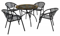 Exclusive Garden Villena 91cm Patio with 4 Florence Chairs