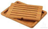 Commichef Bamboo Deluxe Bread Board with Insert 48 x 36cm