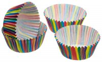 Sweetly Does It Paper Cake Case-Stripe 7cm Pack of 60