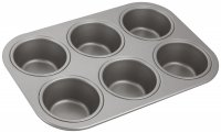 Judge Bakeware 6 Cup Cupcake/Muffin Tin 7 x 3cm/2¾ x 1¼""