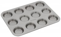 Judge Bakeware 12 Cup Bun Tin 6.5 x 1.5cm/2½ x ½""