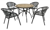 Exclusive Garden Richmond 91cm Patio with 4 Florence Chairs