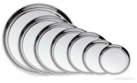 Grunwerg Stainless Steel Round Trays 4 Sizes