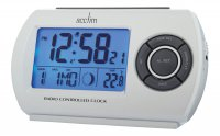 Acctim Denio Radio Controlled Alarm Clock Silver