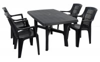 Trabella Taranto Table with 4 Parma Chairs Set Anthracite