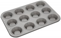 Judge Bakeware 12 Cup Fluted Bun Tin 7 x 2cm/2¾ x ¾""