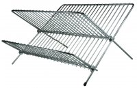 Apollo Housewares Chrome Dish Drainer Folding Small