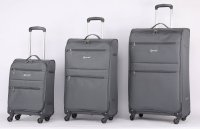 5Cities Algarve Lightweight Fabric 4 Wheel Grey - Various Sizes