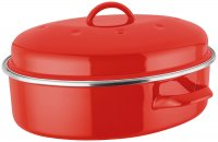 Judge Induction Oval Roaster - Red