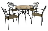 Exclusive Garden Richmond 91cm Patio with 4 Modena  Chairs