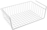 Metaltex White Under-Shelf Storage Basket 40cm