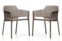 Nardi High Range Net Chair Turtle Dove Pack of 2