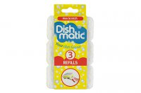 dishmatic refills 3pk non scratch (white)
