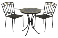 Exclusive Garden Clermont 60cm Bistro with 2 Malaga Chairs
