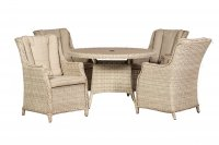 Royalcraft Seychelles 4 Seater Round Highback Comfort Dining Set