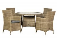 Royalcraft Wentworth 4 Seater Round Carver Dining Set