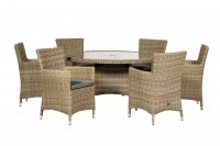Royalcraft Wentworth 6 Seater Round Carver Dining Set