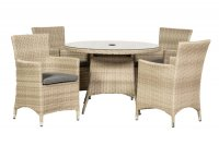 Royalcraft Lisbon 4 Seater Round Carver Dining Set