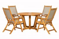 Royalcraft Henley 4 Seater Gateleg Dining Set with Recliner Chairs