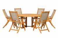Royalcraft Henley 6 Seater Gateleg Round Dining Set