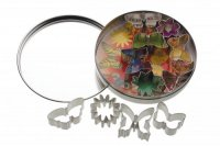 KitchenCraft Eleven Butterflies and Flower Cutters With Metal Storage Tin
