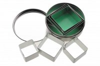 KitchenCraft Set of Six Square Cookie Cutters With Metal Storage Tin