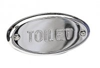 Miller Classic Toilet Sign Chrome