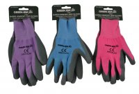 Green Jem Super Comfort Grip Gloves - Medium (Assorted Colours 1 Only)