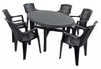 Trabella Teramo Table with 6 Parma Chairs Set Anthracite