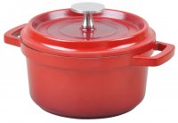 Grunwerg Round Red Casserole Dish with Lid 16cm