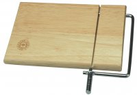 Apollo Housewares Rubberwood Cheese Board With Wire
