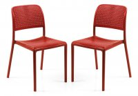 Nardi High Range Bistrot Chair Red Pack of 2
