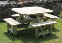 Churnet Valley Westwood Square Picnic Table