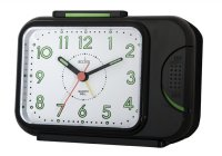Acctim Sonnet Alarm Clock Black 14cm