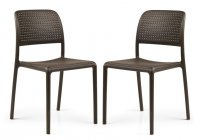 Nardi High Range Bistrot Chair Coffee Pack of 2