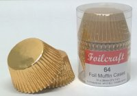 Foilcraft Muffin Cases (Pack of 64) - Gold