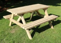 churnet valley deluxe picnic table 1500 length