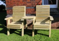 Churnet Valley Ergo Love Seats with Square Tray