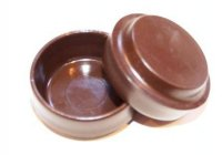 Select Plastic Castor Cups 60mm Brown (Set of 4)
