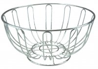 Apollo Housewares Chrome Fruit Bowl Round 24cm x 12cm
